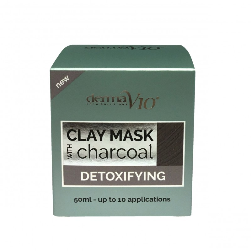 DermaV10 Detoxifying Charcoal Clay Mask