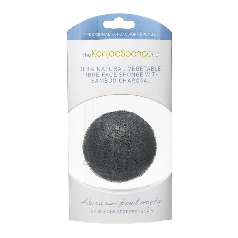 The Konjac Sponge Co Premium Black Bamboo Charcoal Puff Sponge