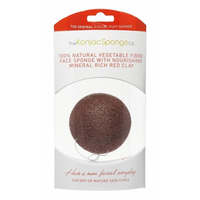 The Konjac Sponge Co Premium Mineral Rich Red Clay Puff Sponge