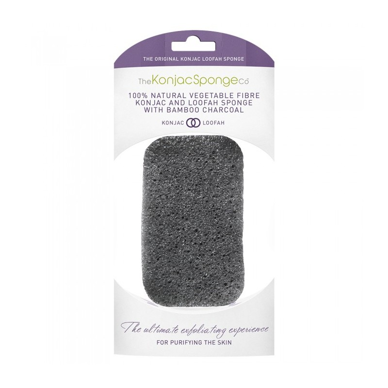The Konjac Sponge Co Premium Bamboo Charcoal Loofah Sponge