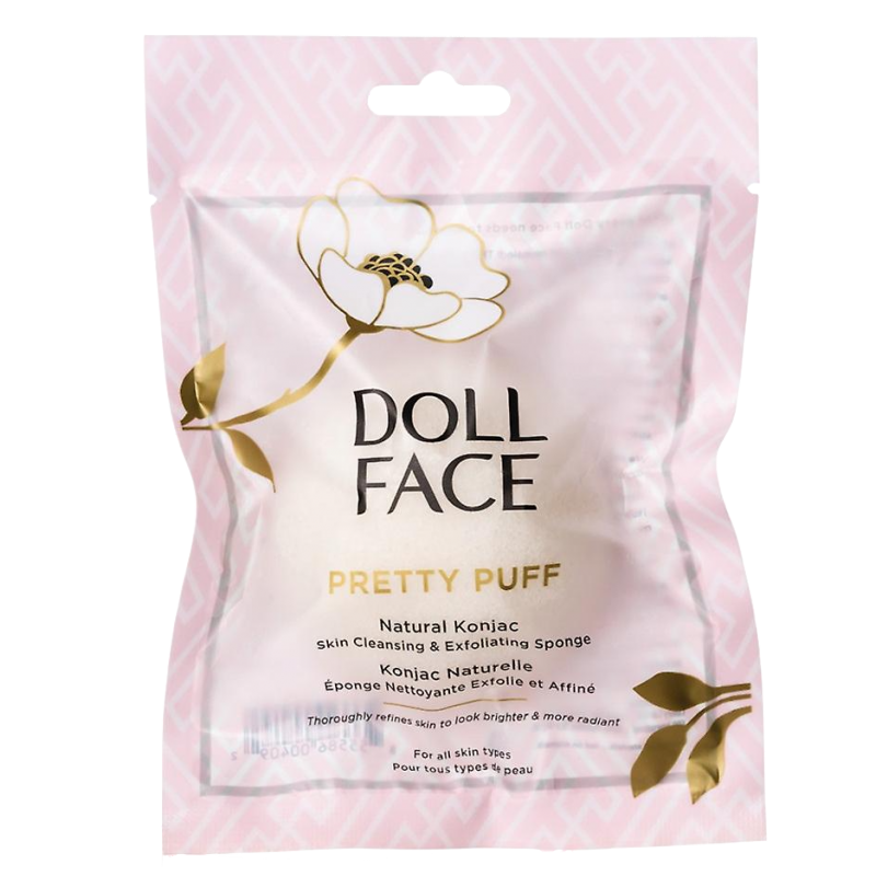 Doll Face Pretty Puff Natural Konjac Sponge White