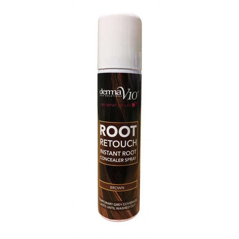 DermaV10 Root Retouch Root Concealer Spray Brown