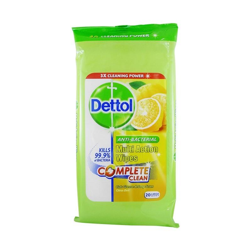 Dettol Multi-Purpose Action Wipes Citrus