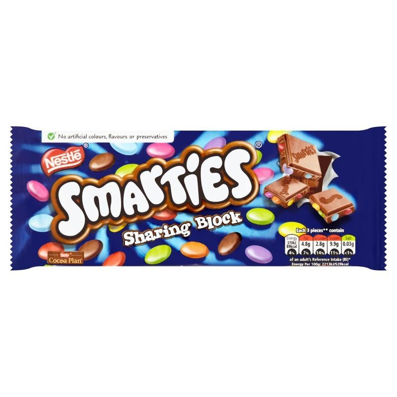 Smarties Chocolate Sharing Block