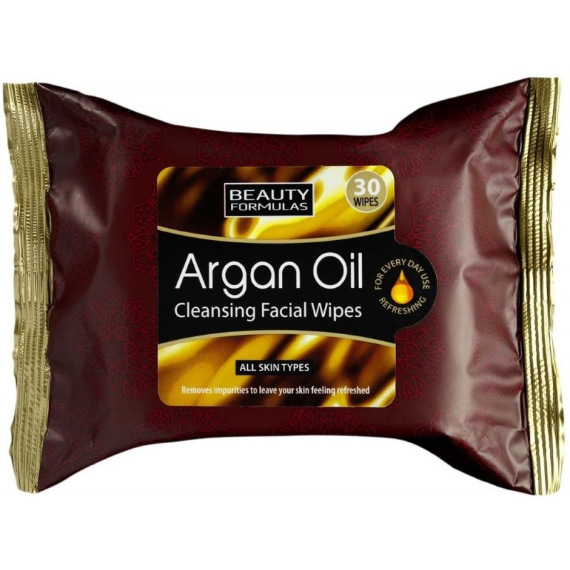 Beauty Formulas Argan Oil Cleansing Wipes