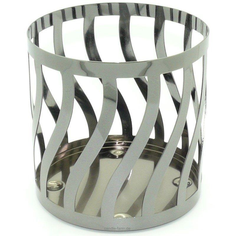 Yankee Candle Curve Gun Metal Jar Candleholder
