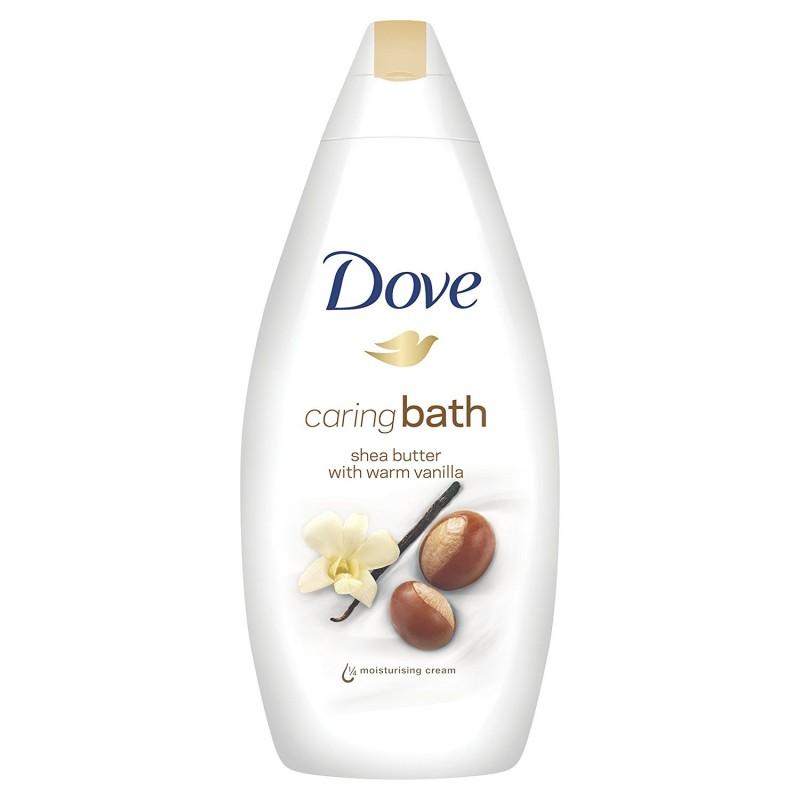 Dove Caring Bath Shea Butter With Warm Vanilla Bath Cream
