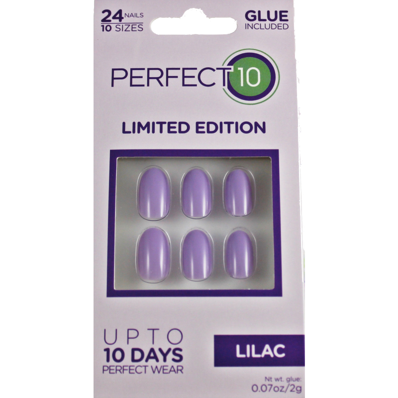 Perfect 10 Lilac False Nails