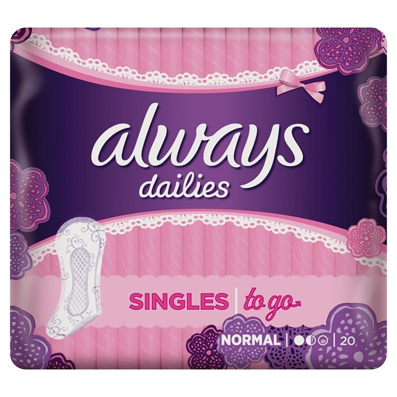 Always Dailies Singles Trosskydd Normal To Go