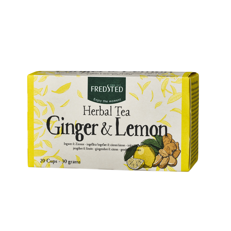 Fredsted Fredsted Herbal Tea Ginger & Lemon 20 pussia