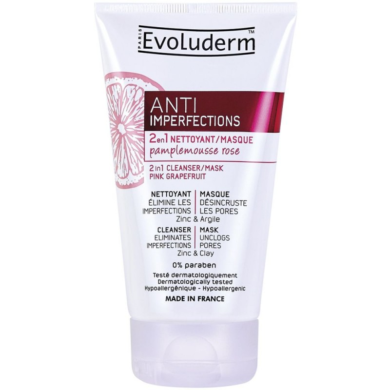 Evoluderm Anti Imperfections 2in1 Pink Grapefruit Cleanser