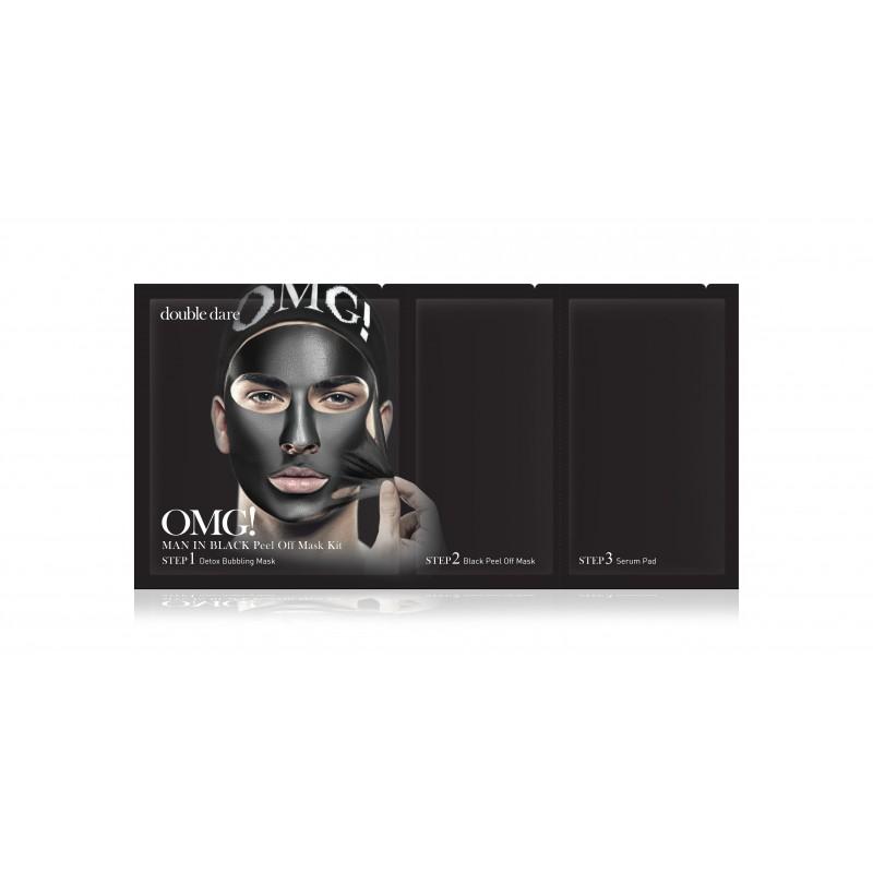 Double Dare OMG! Man in Black Peel Off Mask Kit