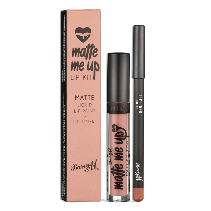 Barry M. Matte Me Up Lip Kit Go To
