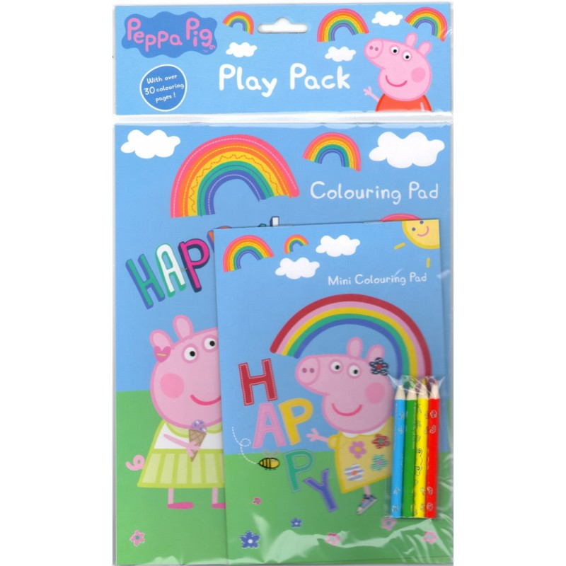 Peppa Pig Play Pack Mini Colouring Pad