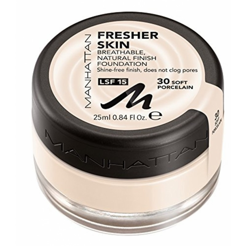Manhattan Fresher Skin Foundation 30 Soft Porcelain