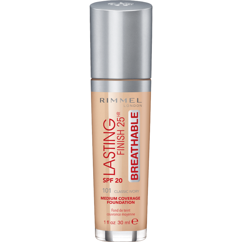Rimmel Lasting Finish 25h Breathable 101 Classic Ivory