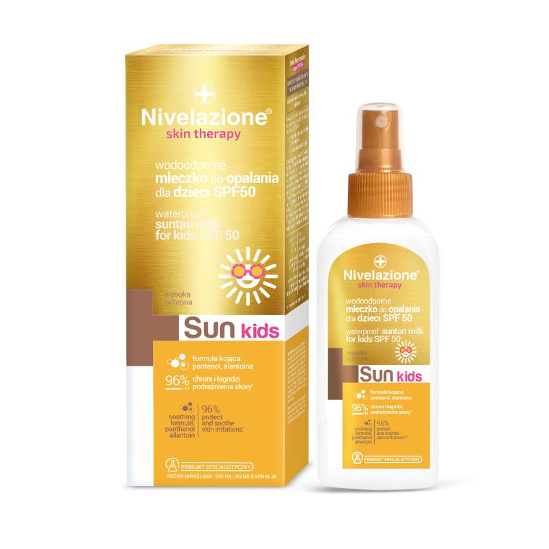 Nivelazione Kids Skin Therapy Waterproof Suntan Milk SPF50