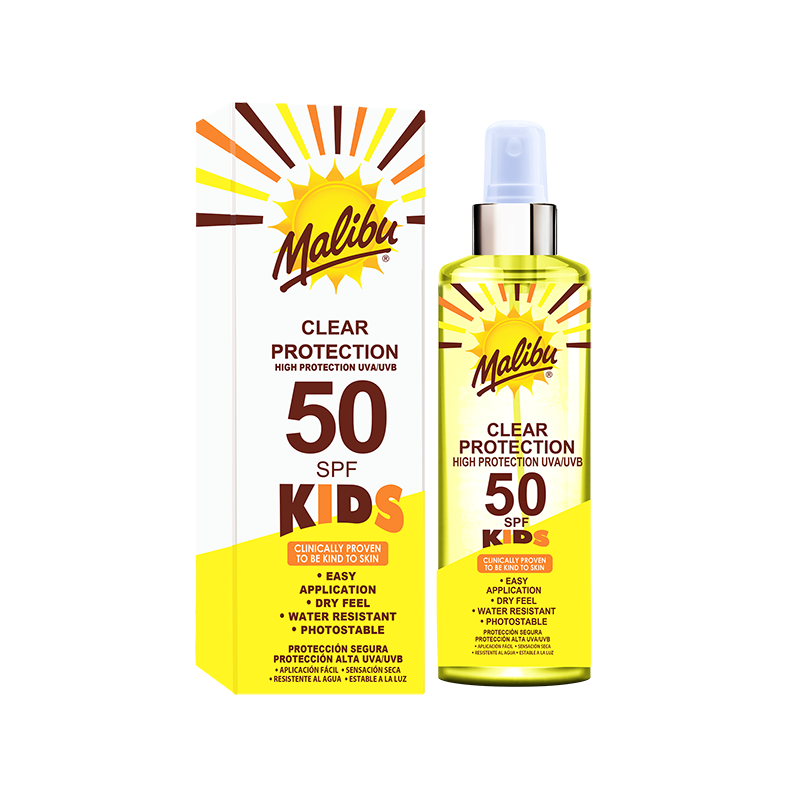 Malibu Kids Clear Sun Protection SPF50