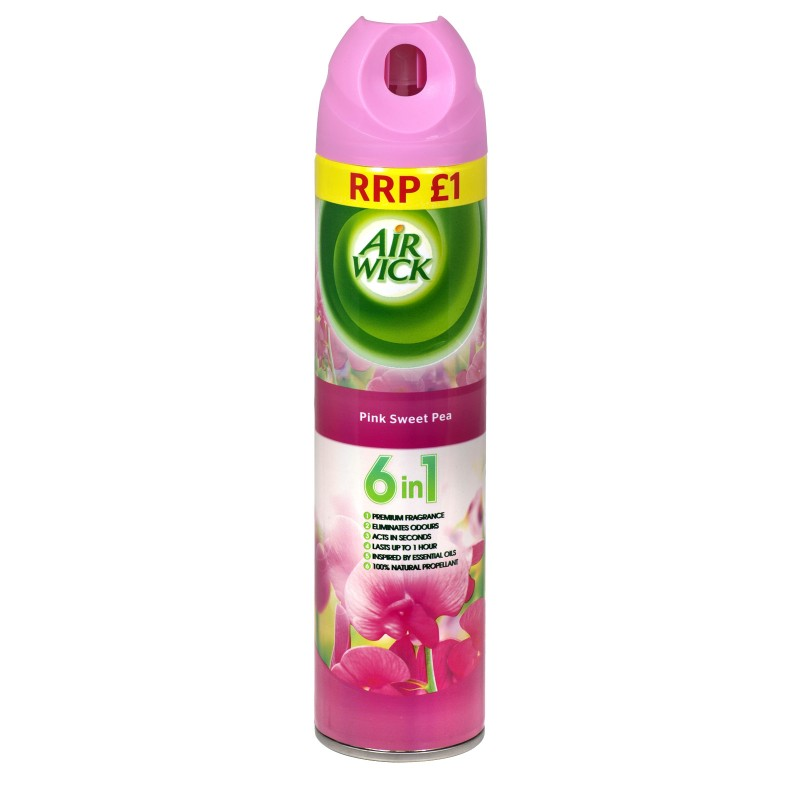 Air Wick 6in1 Pink Sweet Pea Air Freshener Spray