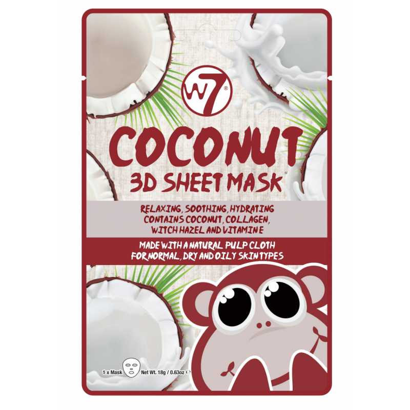 W7 3D Sheet Face Mask Coconut