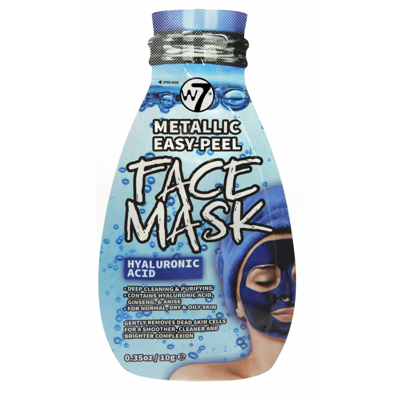 W7 Metallic Easy Peel Hyaluronic Acid Face Mask