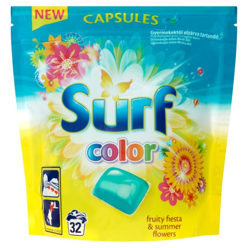 Surf Fruity Fiesta & Summer Flowers Color Pyykinpesutabletit