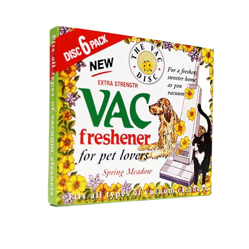 The Vac Disc Pet Lovers Extra Strength Vac Freshener Spring Meadow