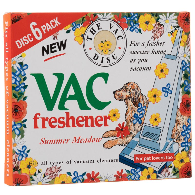 The Vac Disc Pet Lovers Vac Freshener Summer Meadow
