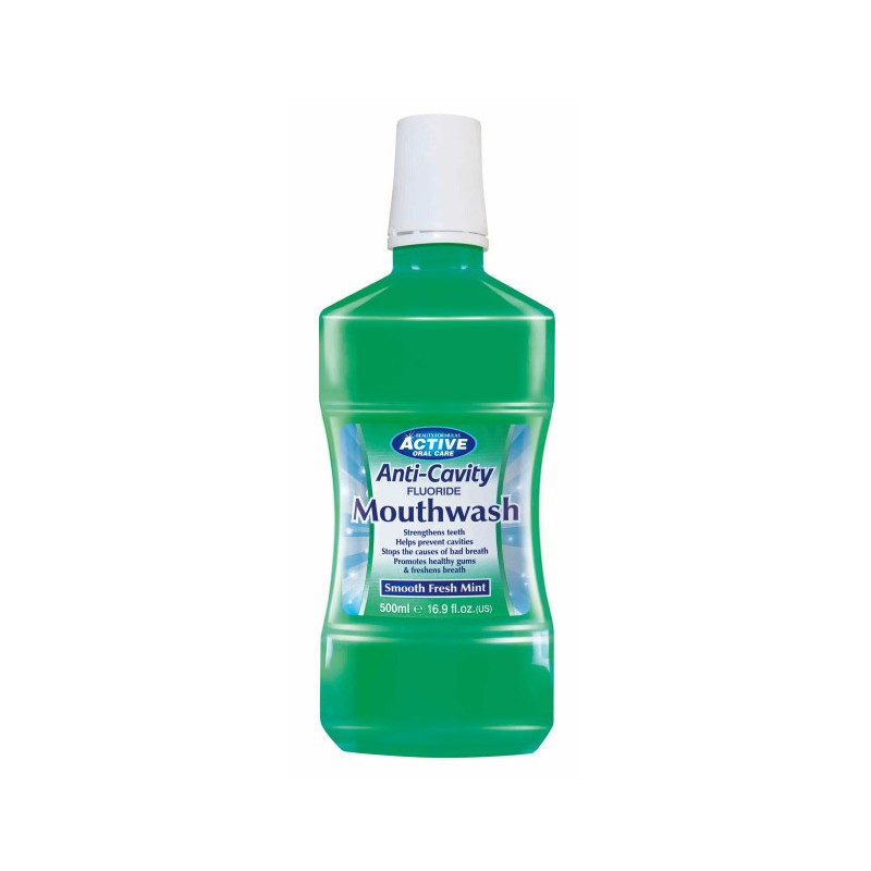 Active Oral Care Anti-Cavity Smooth Fresh Mint Mouthwash