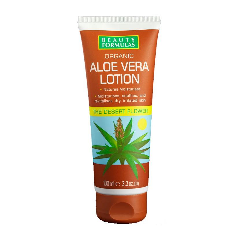 Beauty Formulas Organic Aloe Vera Lotion