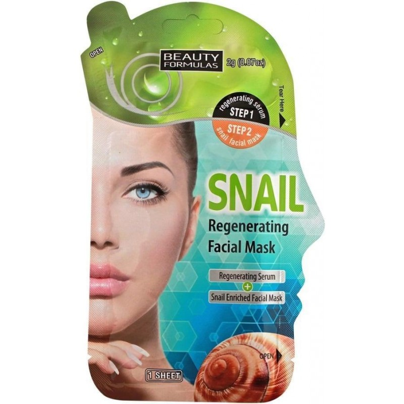 Beauty Formulas Snail Regenerating Facial Mask