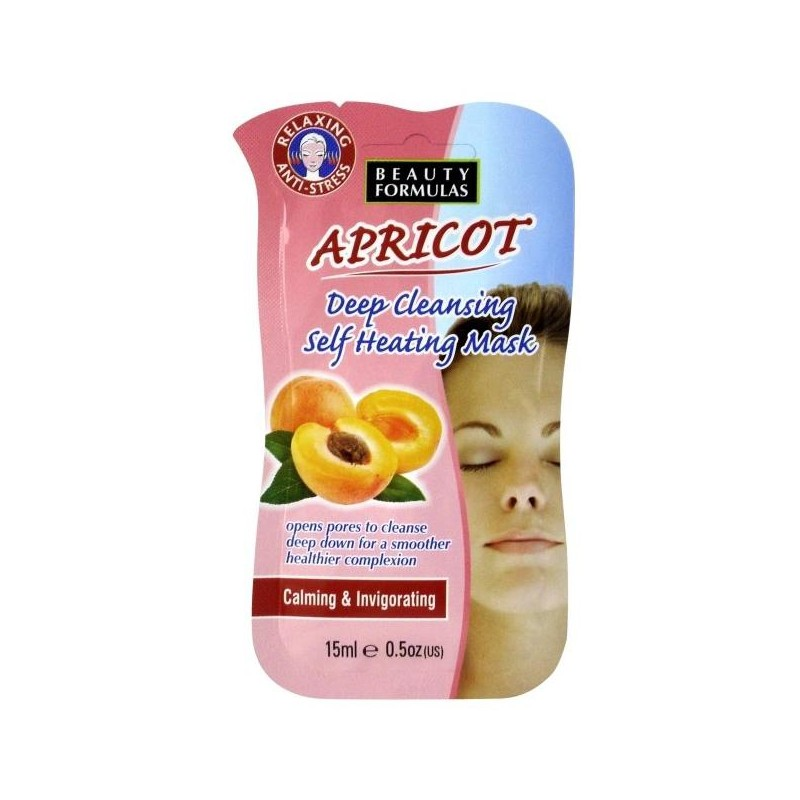 Beauty Formulas Apricot Deep Cleansing Self Heating Mask