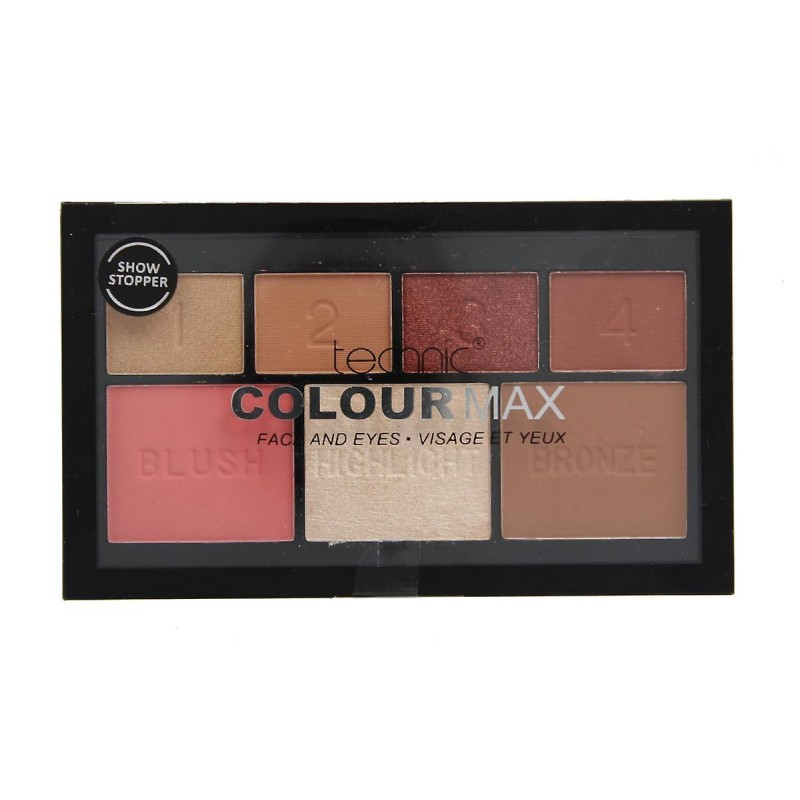 Technic Colour Max Face & Eyeshadow Show Stopper Palette