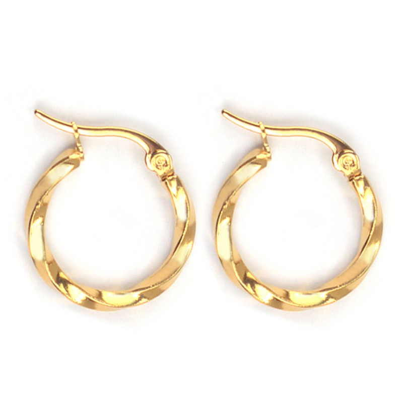 Everneed Tilla Twist Guld Hoops