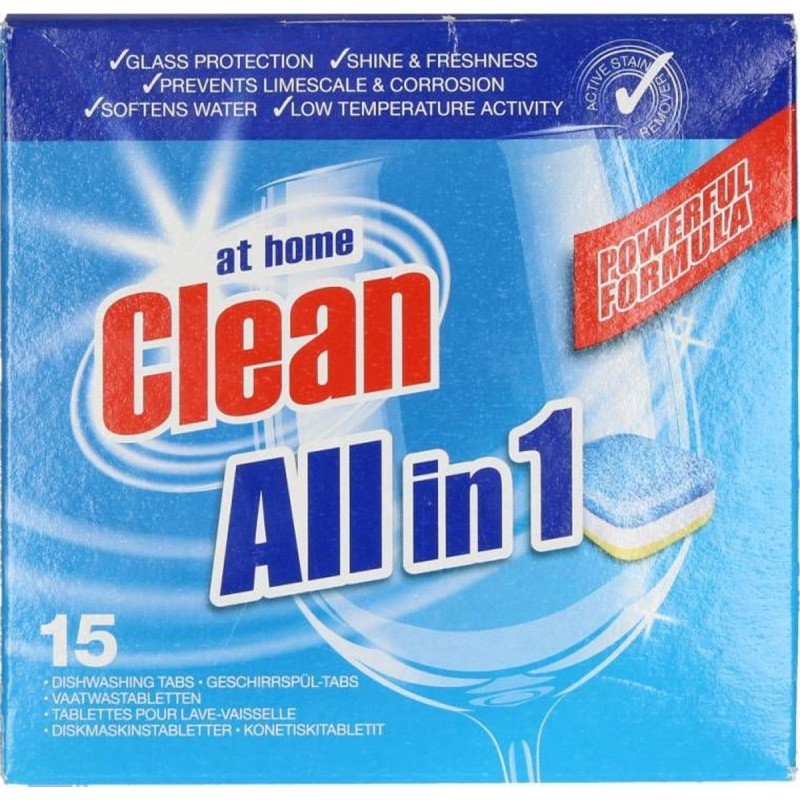 At Home Clean All-in-1 Dishwashing Tabs
