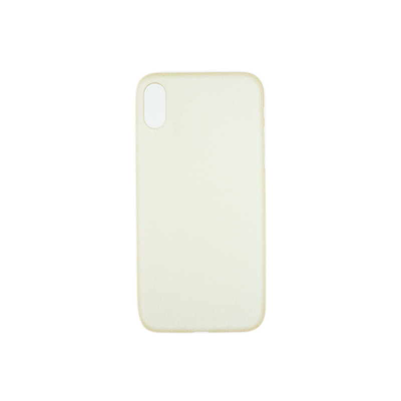 BasicsMobile iPhone X Back Cover Yellow