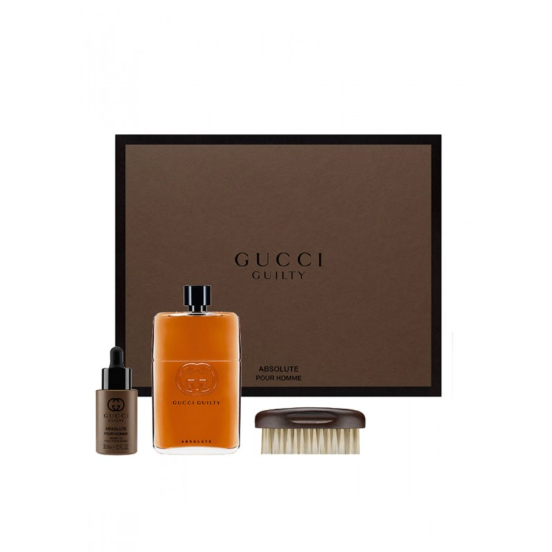 Gucci Guilty Absolute Pour Homme EDP & Beard Oil & Brush