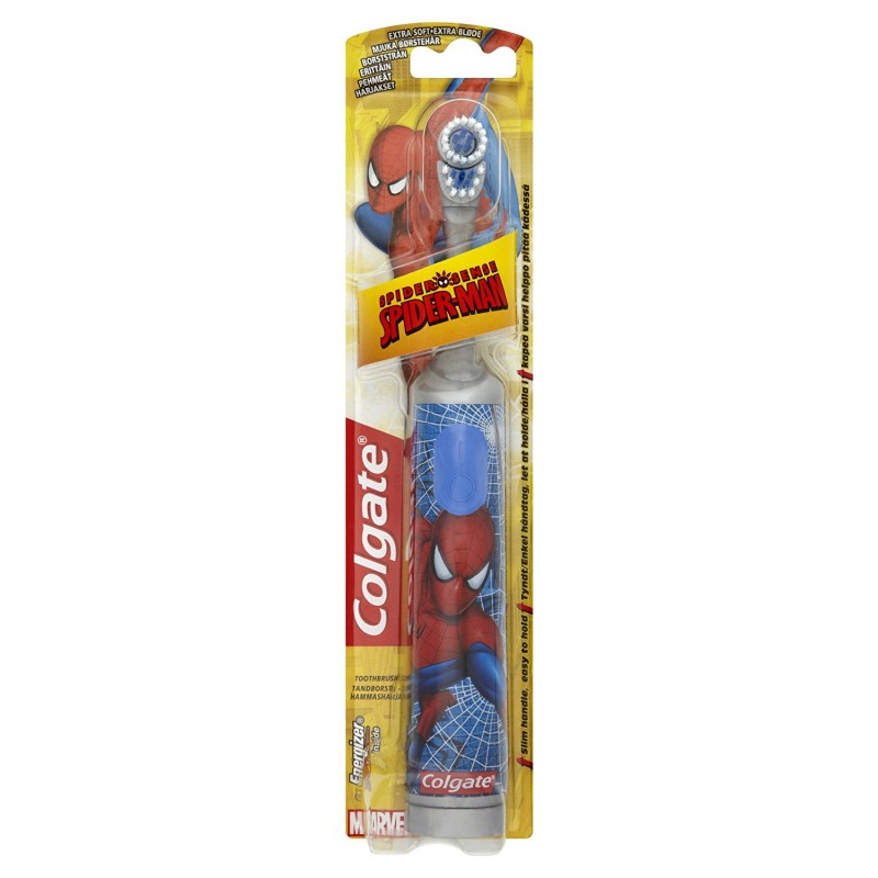 Colgate Battery Spiderman Toothbrush Extra Soft