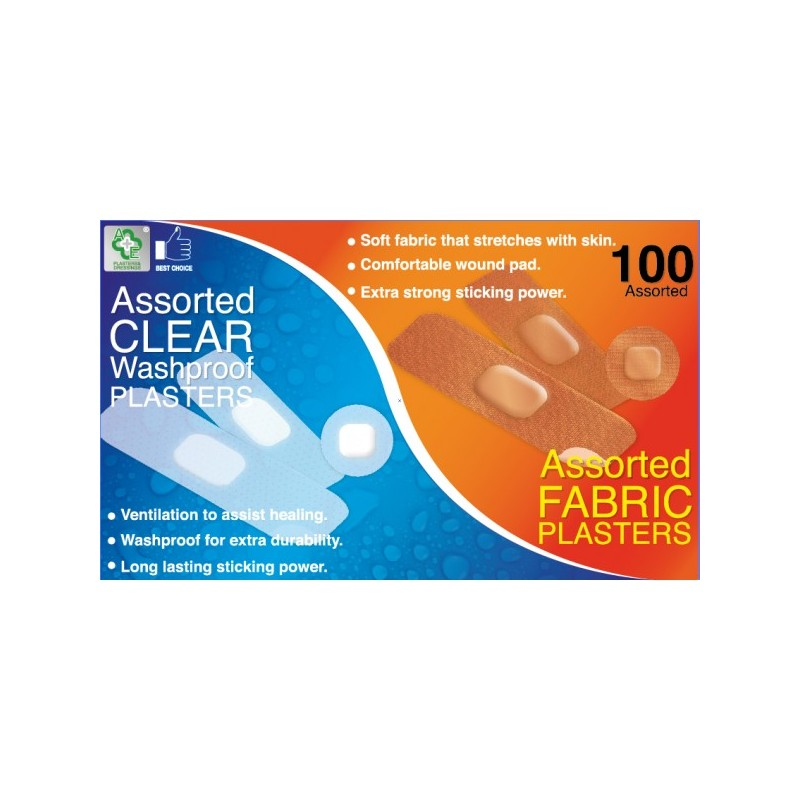 A&E Assorted Washproof & Fabric Plasters