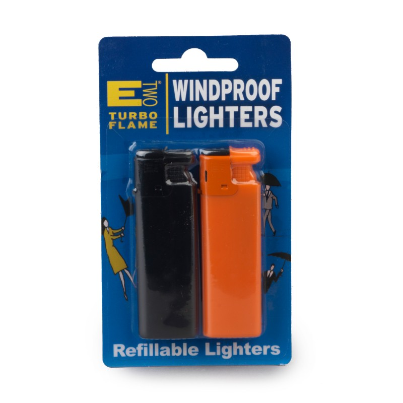 E Two Windproof Refillable Lighters