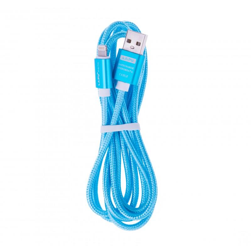 BasicsMobile Fabric Lightning & USB Cable Blue