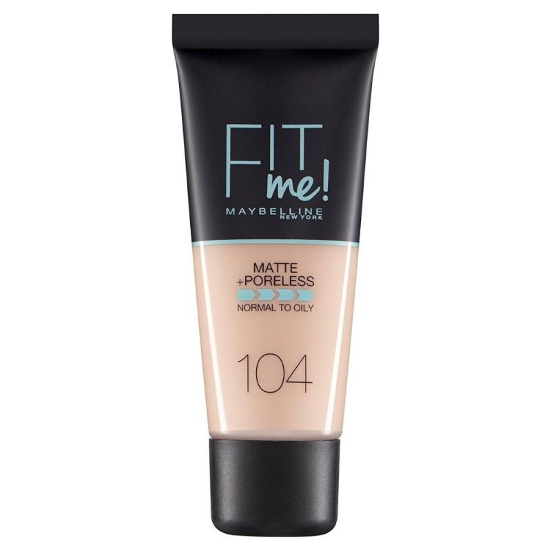 Maybelline Fit Me Matte & Poreless Foundation 104 Soft Ivory