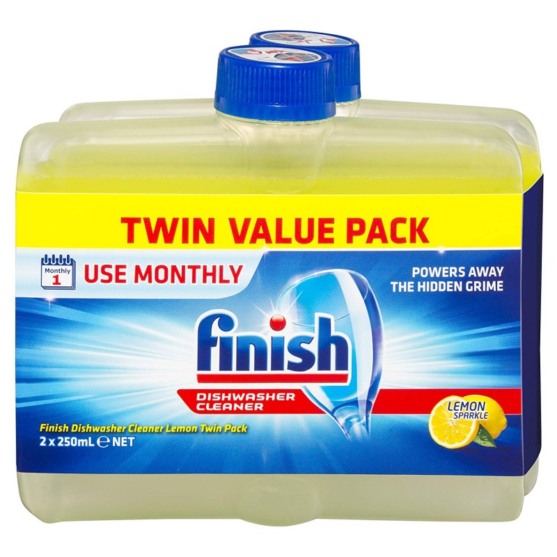 Finish Dishwasher Cleaner Lemon Twin Pack