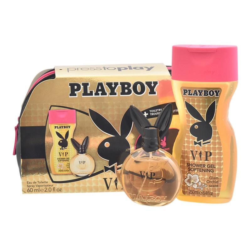 Playboy VIP For Her EDT & Shower Gel & Toilet Bag