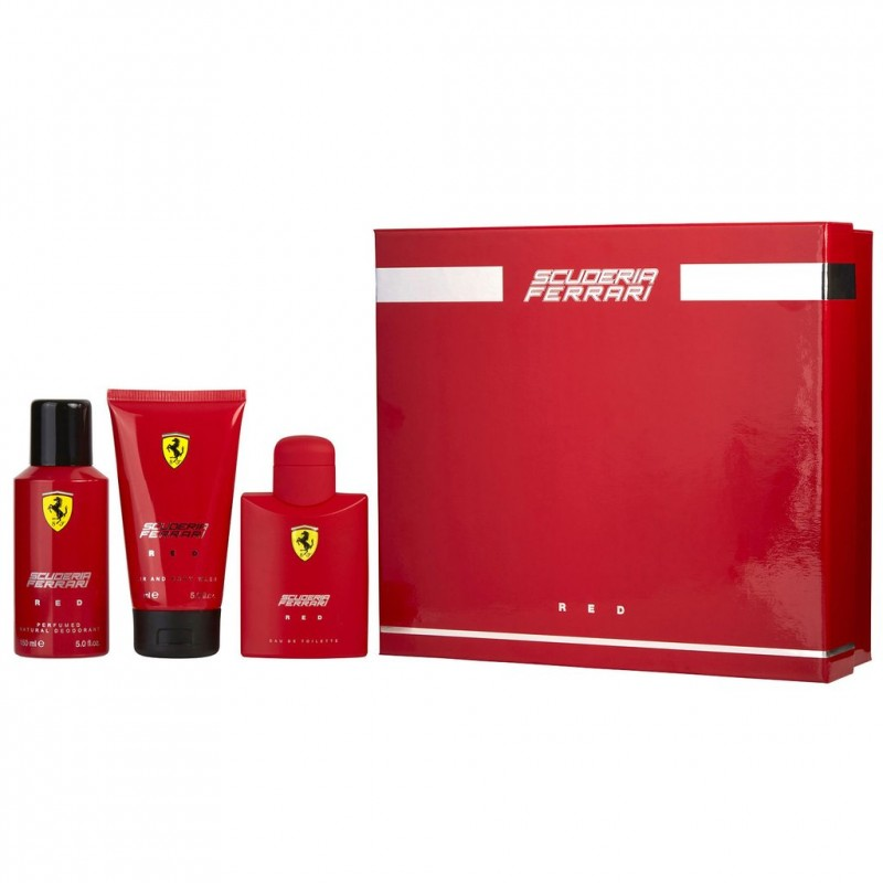 Ferrari Red Scuderia EDT & Shower Gel & Deospray