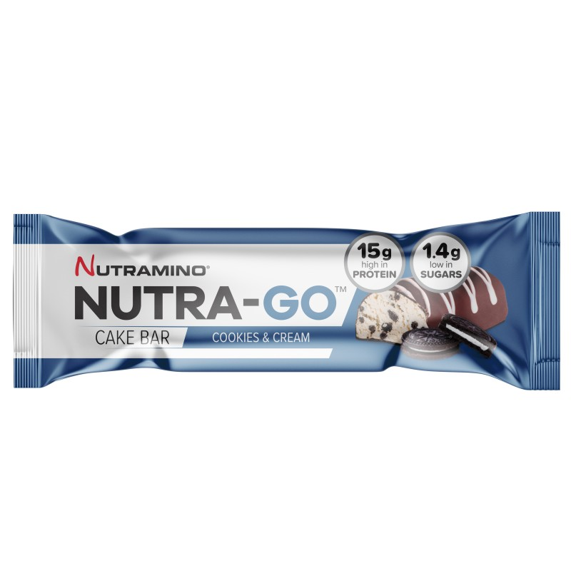Nutramino Nutra-Go Cake Bar Cookies & Cream