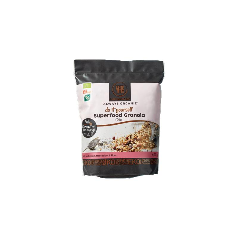 Urtekram Superfood Granola Chia Luomu