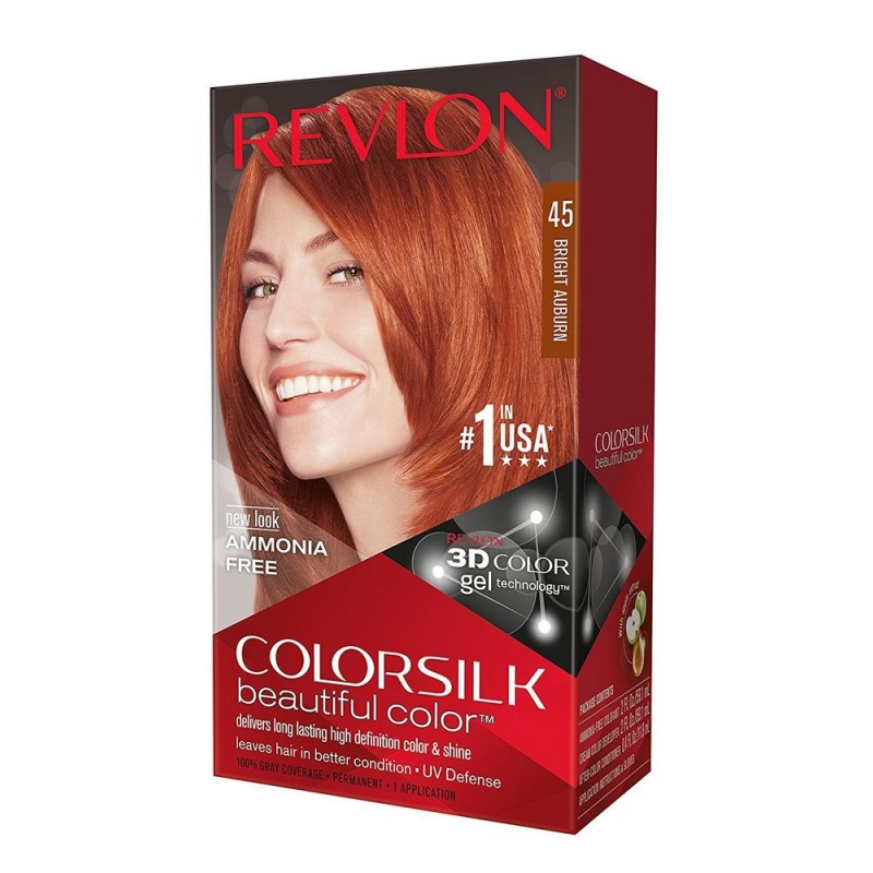 Revlon Colorsilk Permanent Haircolor 45 Bright Auburn