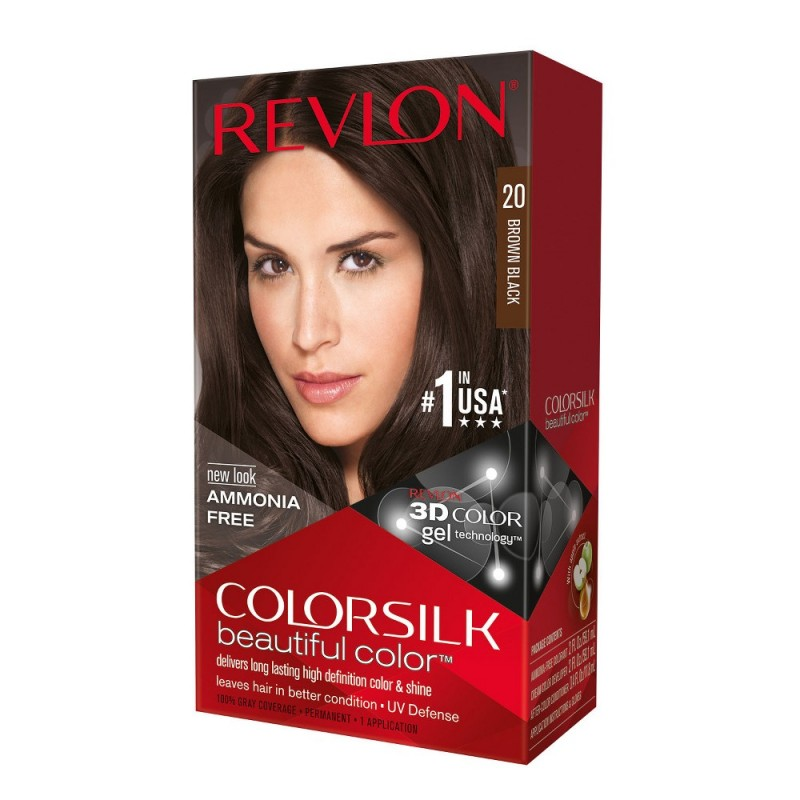 Revlon Colorsilk Permanent Haircolor 20 Brown Black