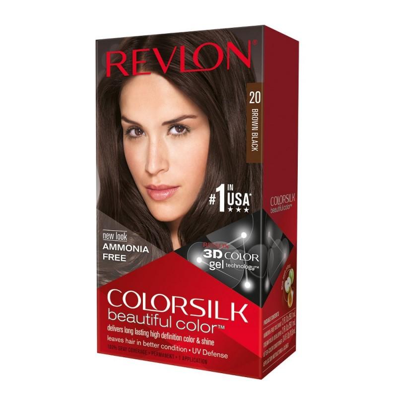 Revlon Colorsilk Permanent Haircolor 20 Brown Black